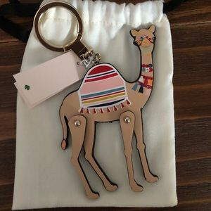 kate spade Accessories - Kate Spade Camel Keychain